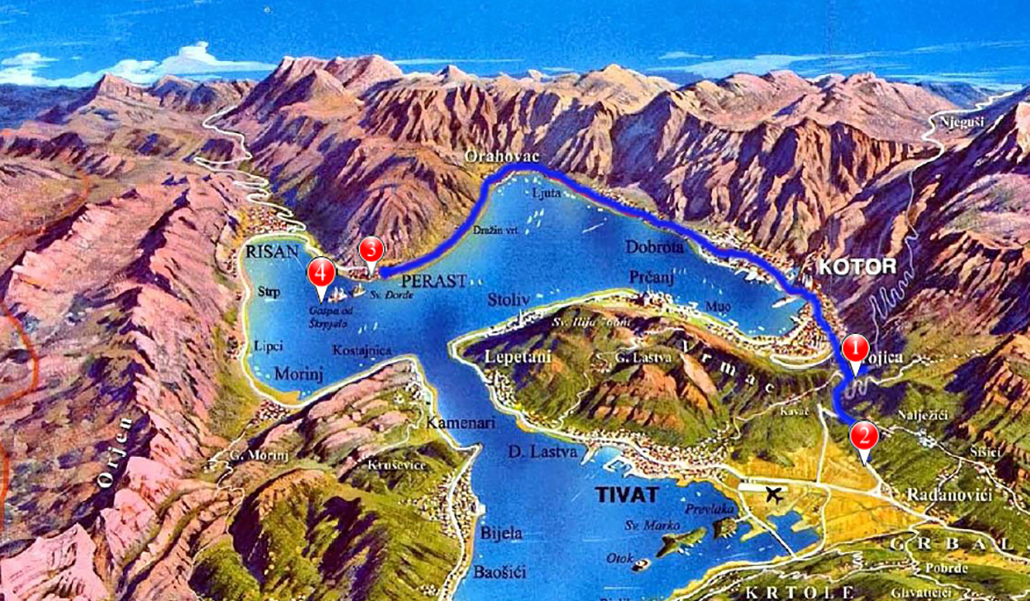 map perast