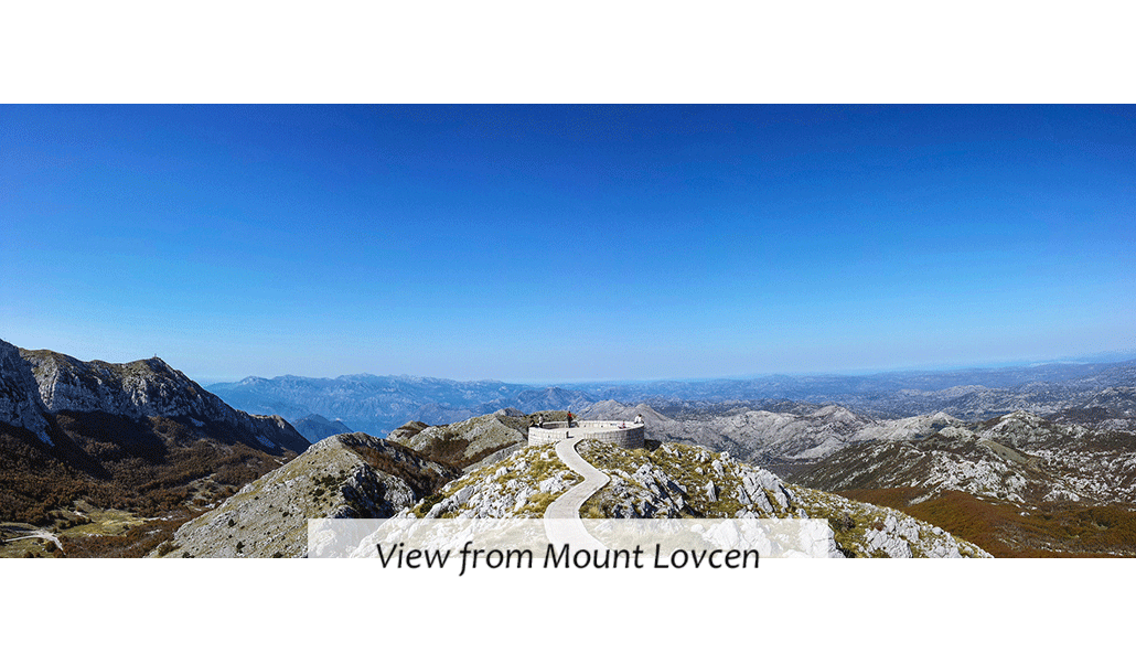 view from lovcen