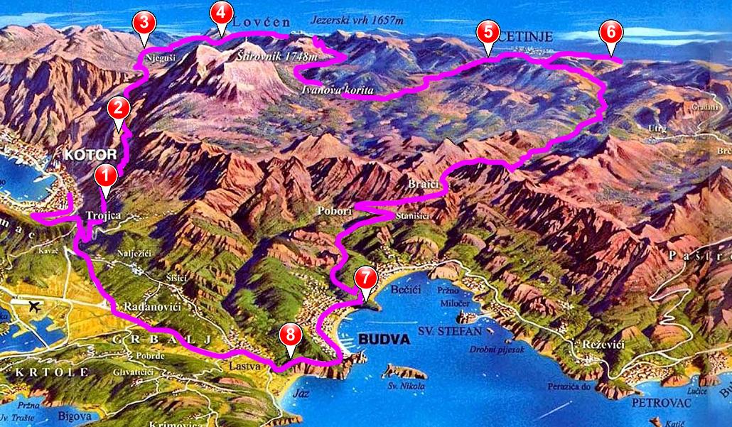 mini montenegro tour